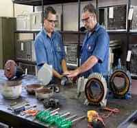 Manutenção em servo motores e motores elétricos